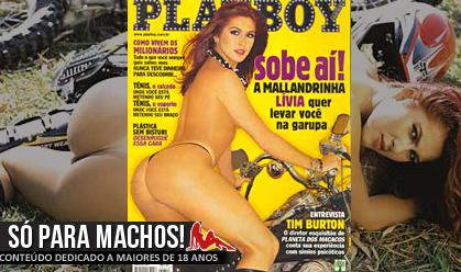 Lívia Andrade nua pelada na Playboy