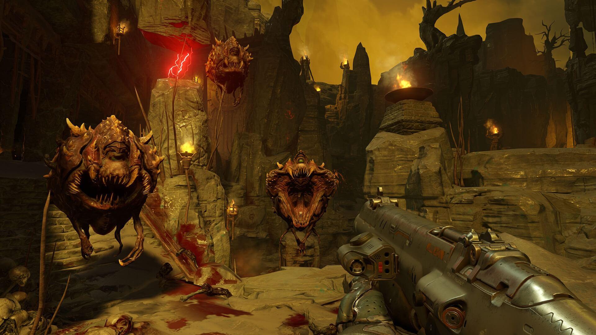 Ótimo jogo de ação: Doom
