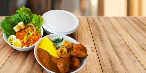 Angu com frango