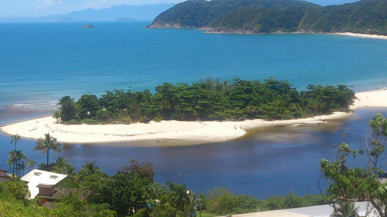 A praia Barra do Una